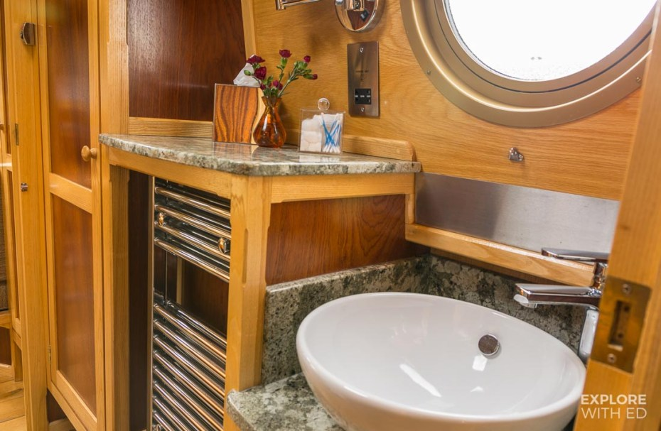 Shower and toilet facilities on a narrowboat