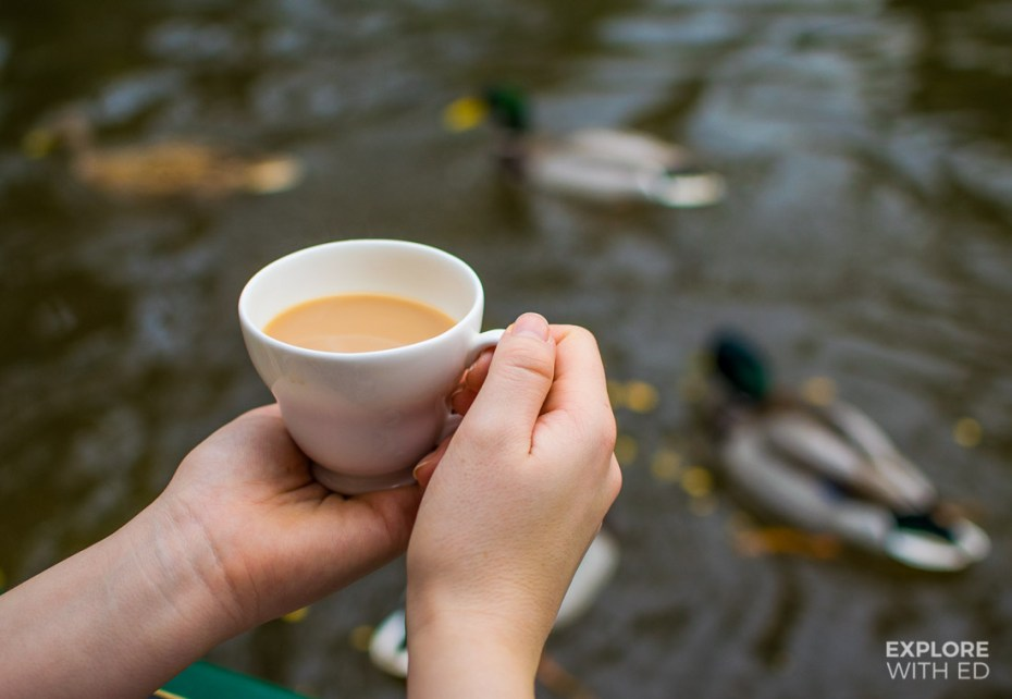 Cup of tea by the canal
