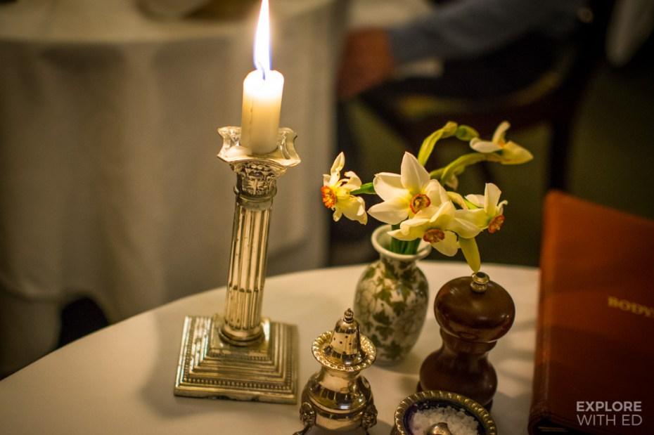 Table setting at Bodysgallen Hall
