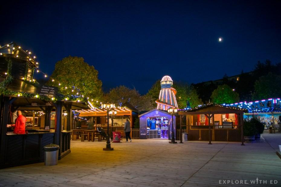 Cardiff's Winter Wonderland stalls