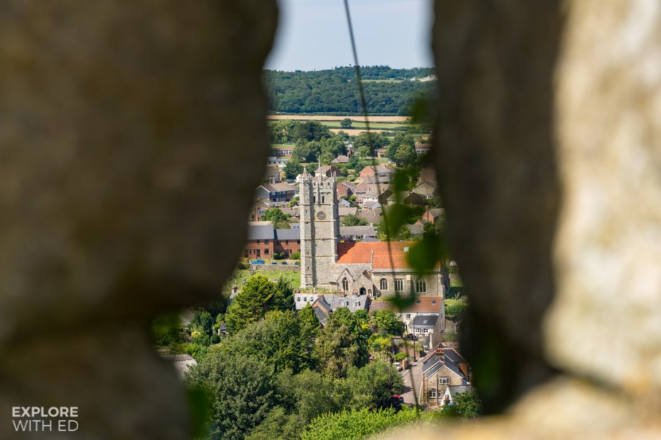Church of St Mary viewed from Carisbrooke Castle