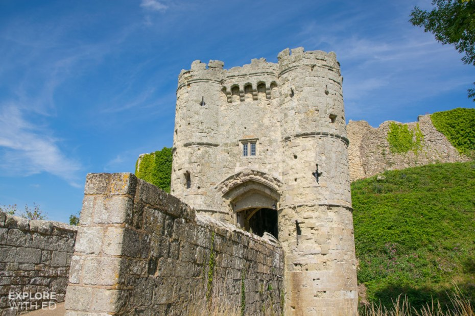 View of the Gatehouse at Carisbrooke Castle