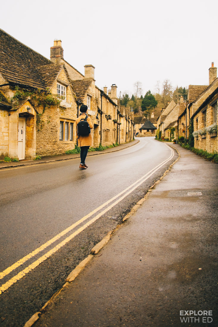The main street of Castle Combe village