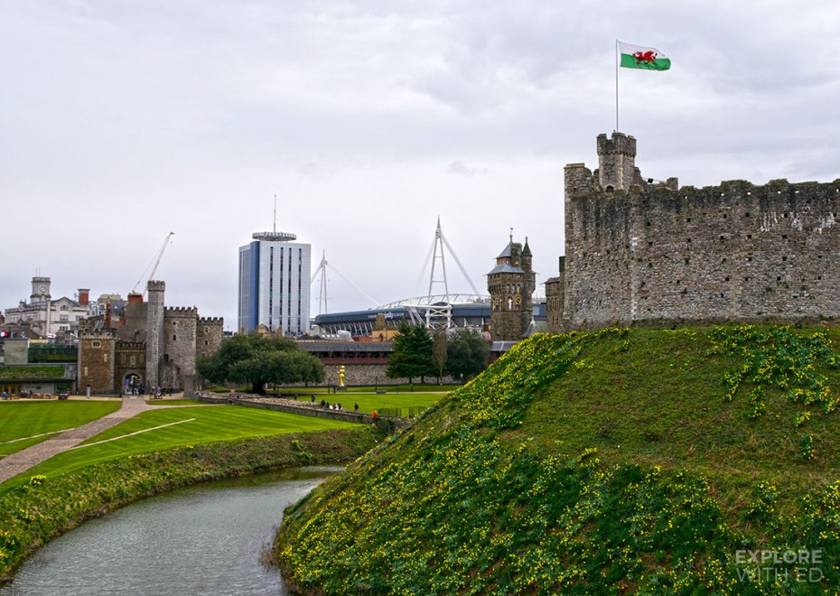 Motte and Bailey Castle in Wales