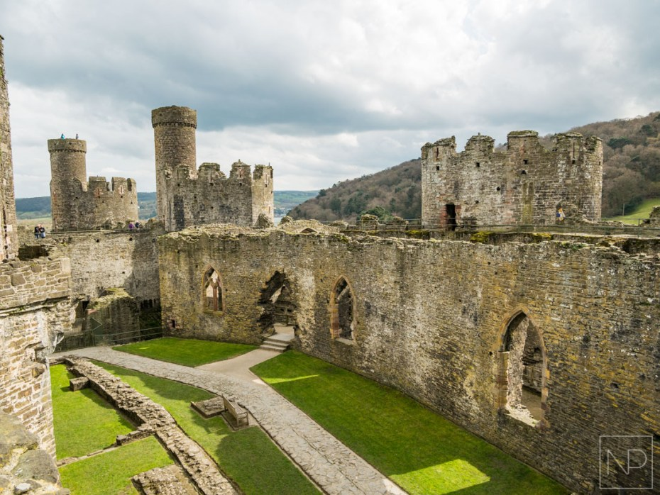 The centre of Conwy Castle