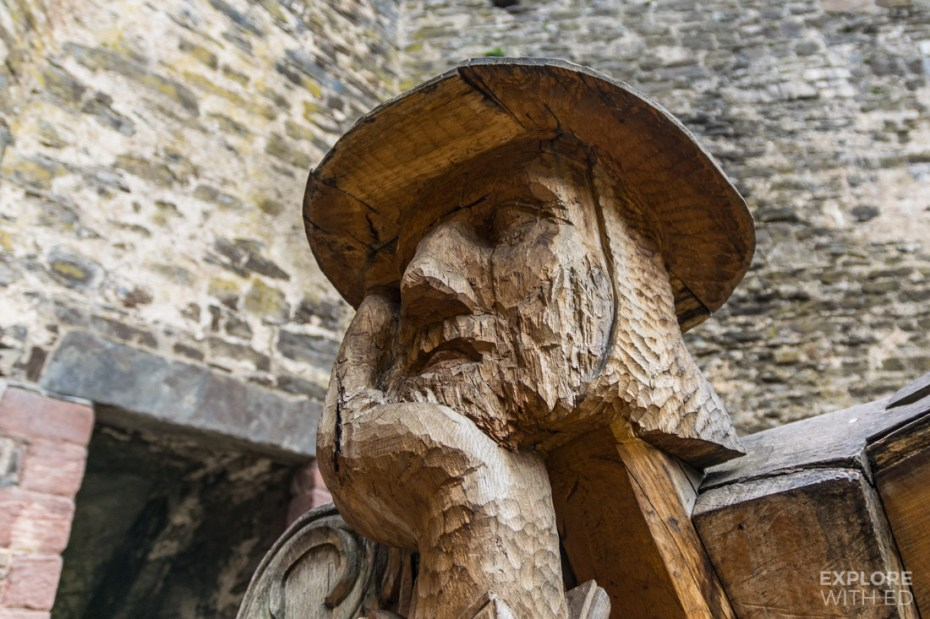 Wood carving of solider