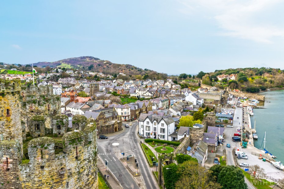 Conwy town viewed from the Castle