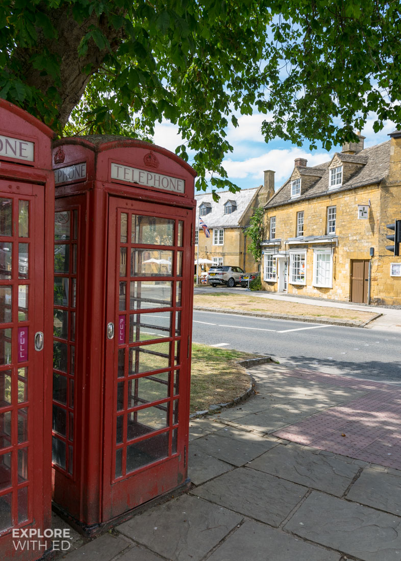 The Classic Red Phone Box in The Cotswolds