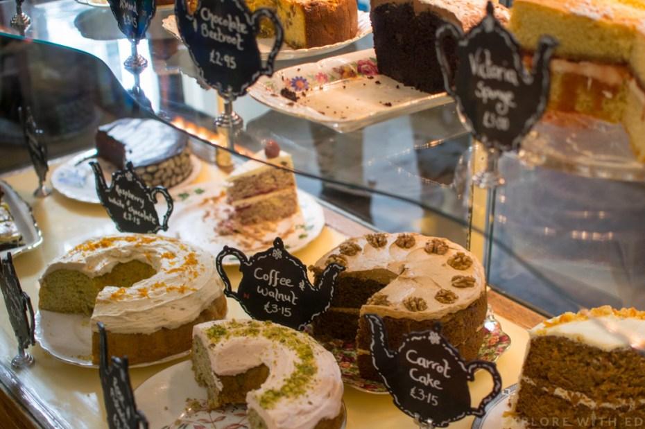 Cakes in Pettigrew Tea Rooms
