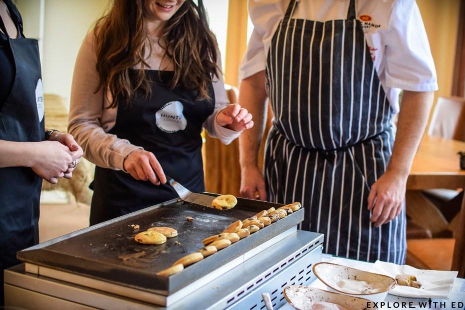 Making welsh cakes, celtic manor resort