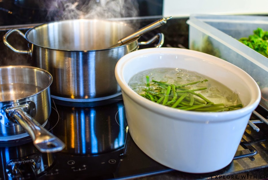Blanching vegetables, The Celtic Manor