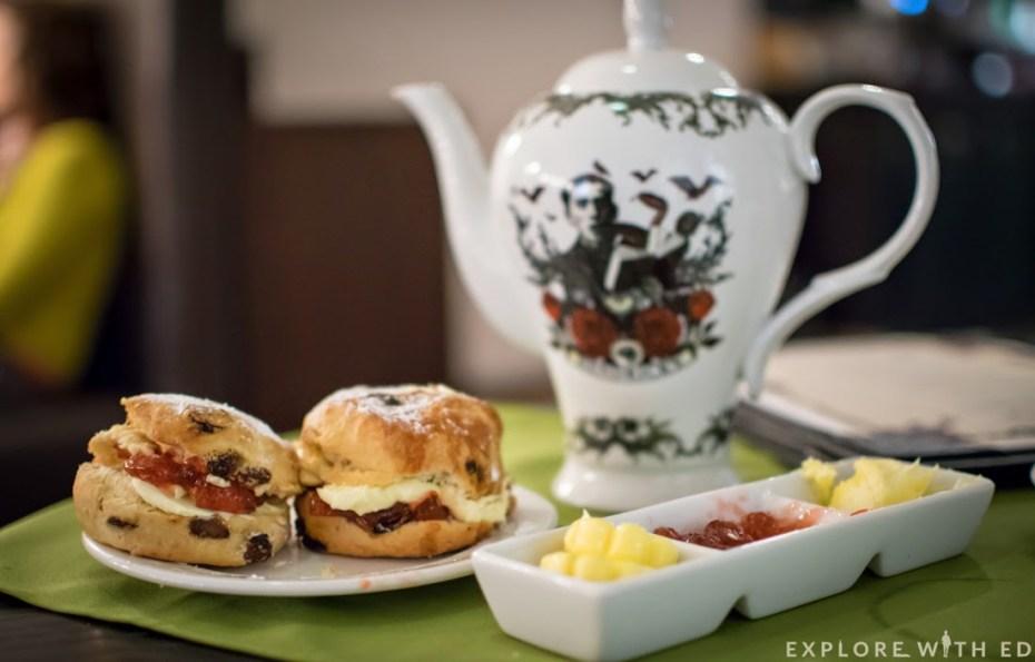Fruit Scone, Hendrick's Tea pot