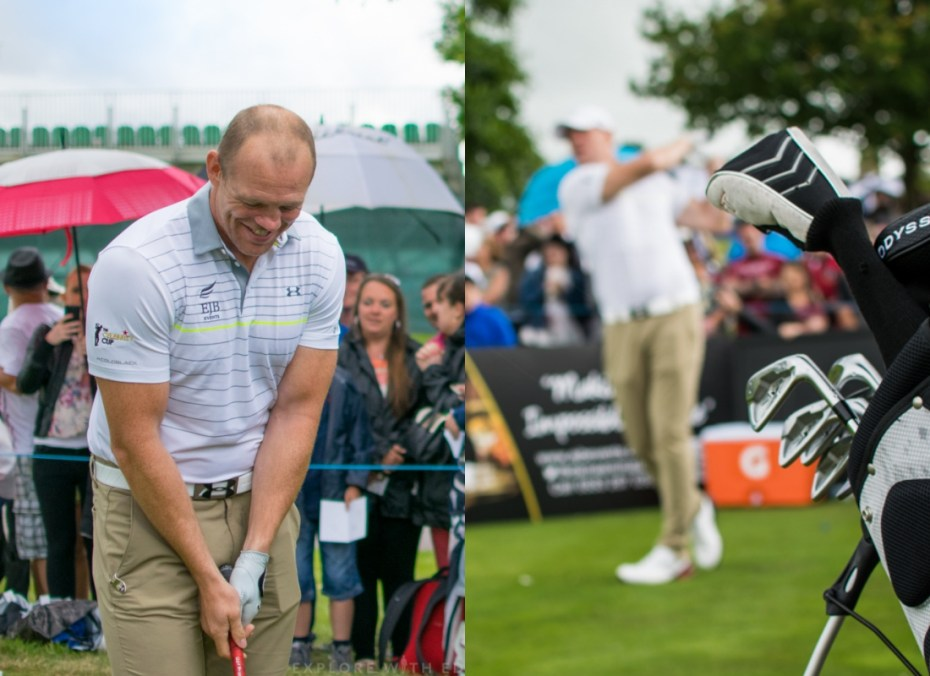 Mike Tindall playing golf at The Celtic Manor