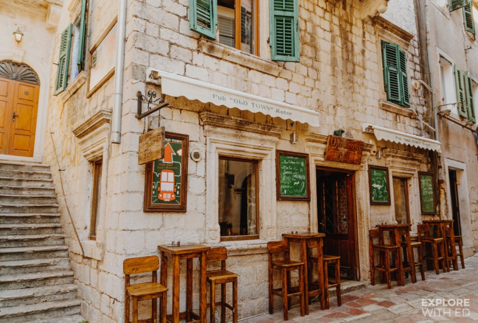 The old town pub in Kotor, Montenegro