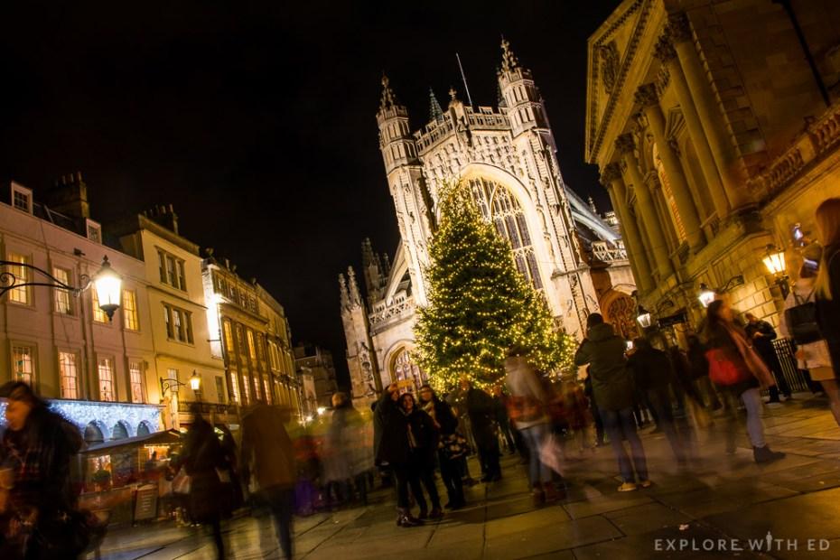 Bath Abbey at Christmastime