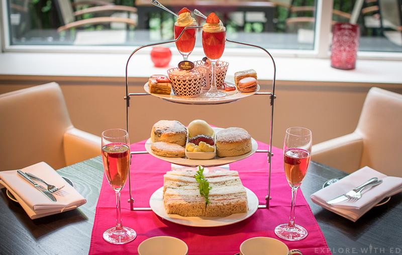 Park Plaza Cardiff Pink Afternoon Tea