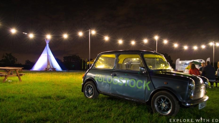 Blogstock Festival site at night