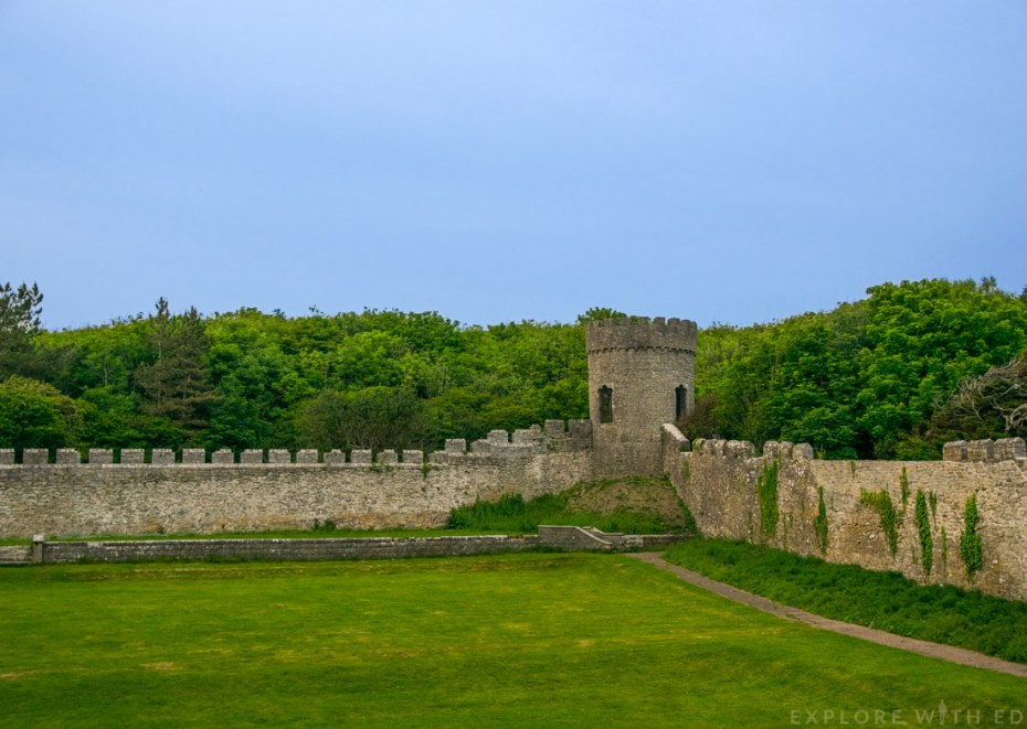 Dunraven Tower, Castle Fortress Walls, Flower Gardens, Vale of Glamorgan