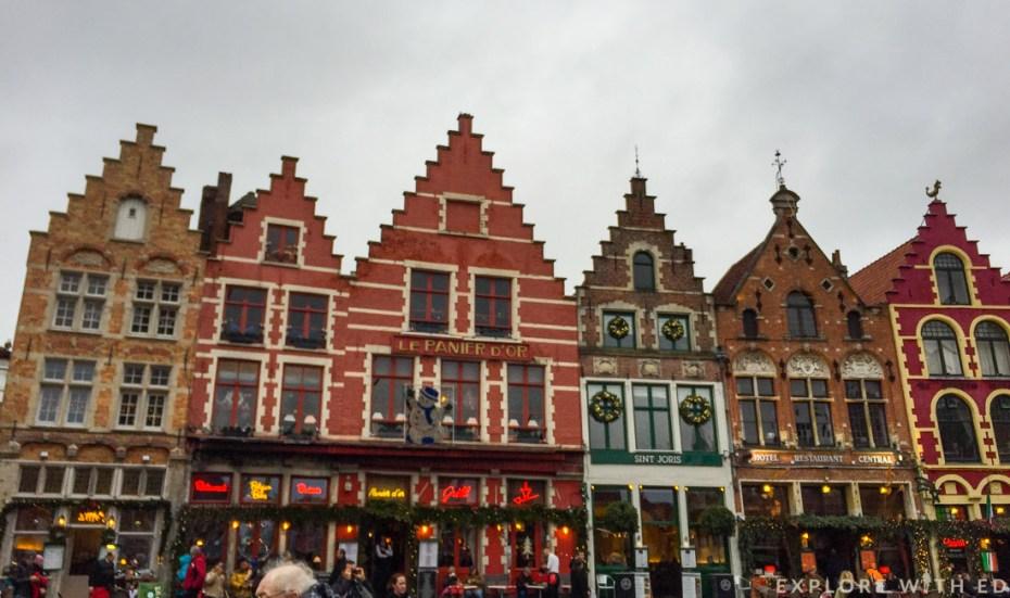 Bruges Grote Markt Christmas