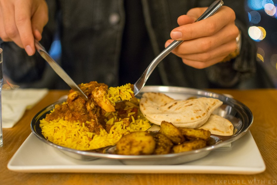 Dhansak Curry dish at Grape and Olive Swansea