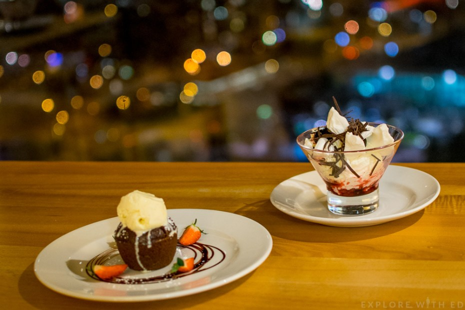 Desserts at Grape and Olive Swansea
