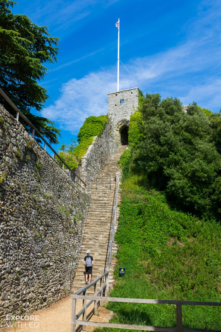 Motte and Bailey Castle on the Isle of Wight