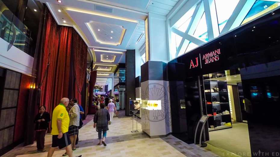 Shops onboard Anthem of the Seas