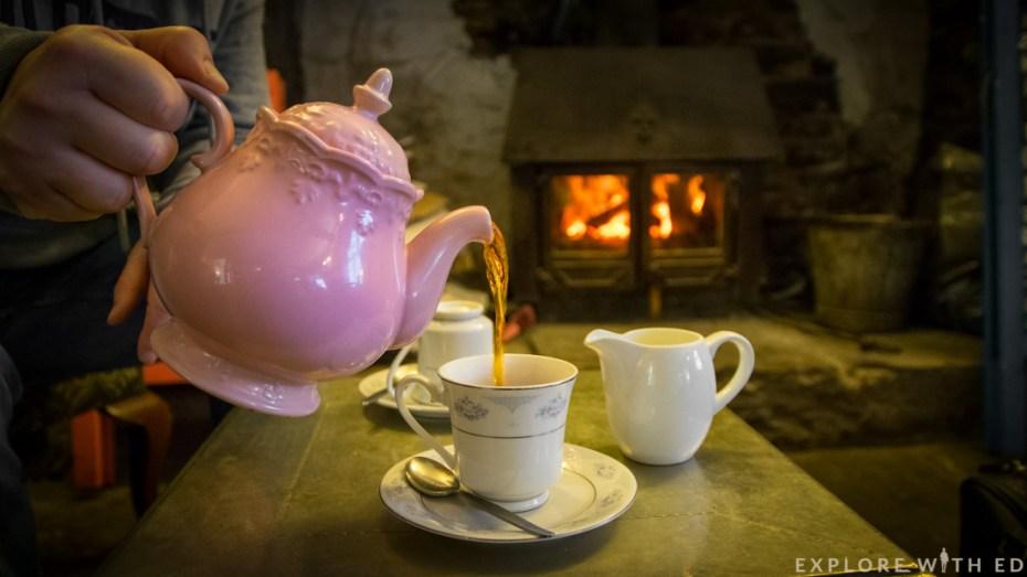 Tea cup and pot, Brecon Beacons National Park