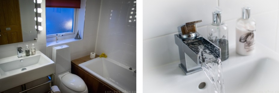 En-suite bathroom Langland Bed and Breakfast
