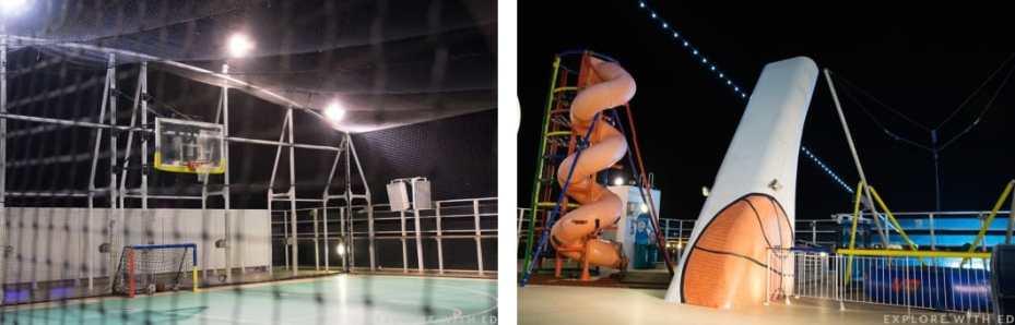 Basket ball court, jungle gym, trampoline, Norwegian Epic