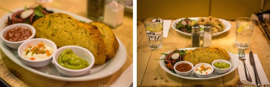 Different angles of a plate of food from Vivo Latino