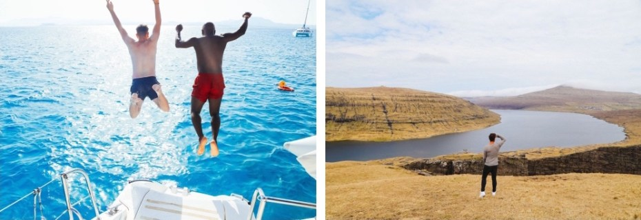 Jumping into the sea, Exploring lakes in the Faroe Islands