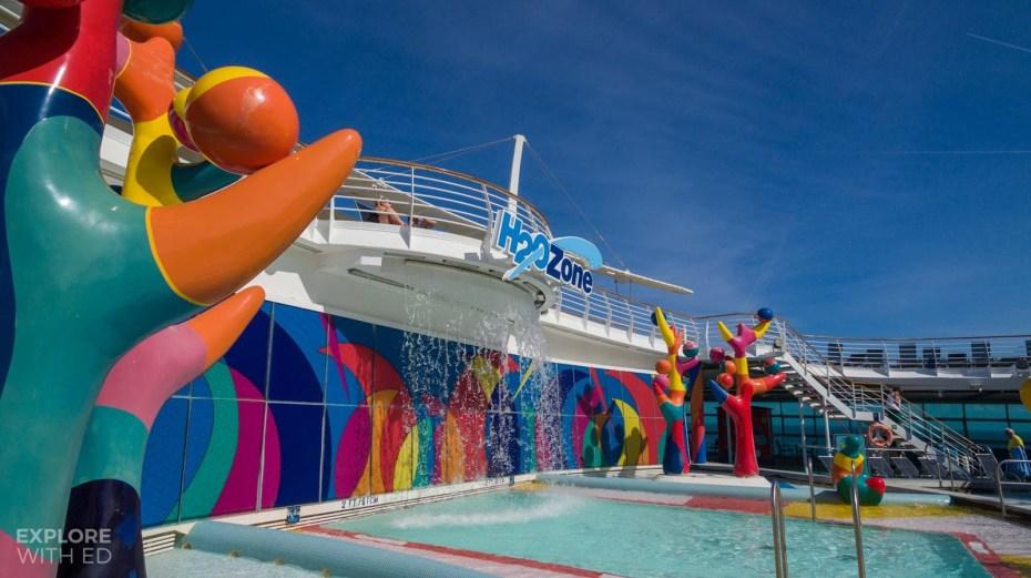 H2O Zone Cruise Ship Pool Area