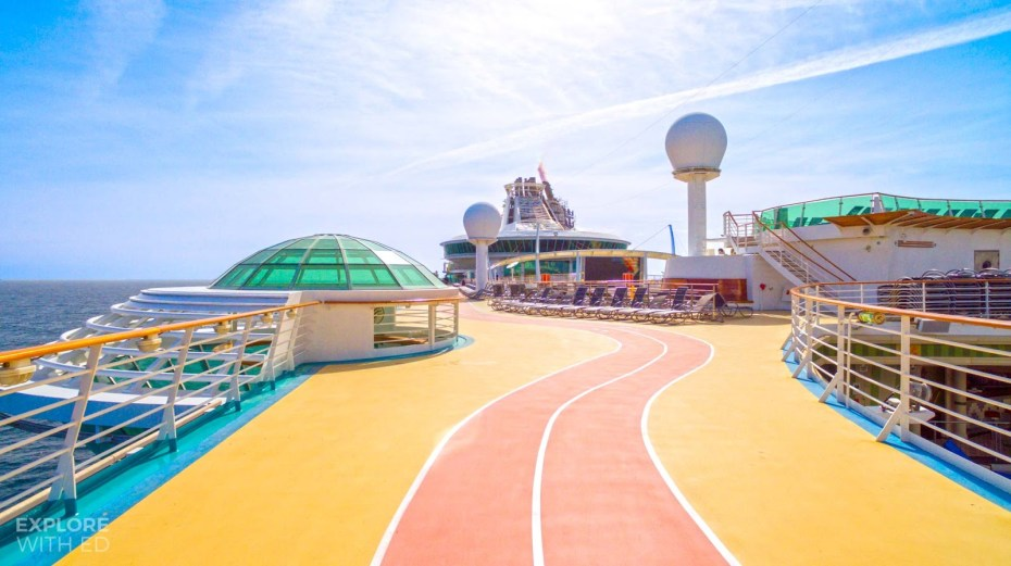 The running track onboard Independence of the Seas