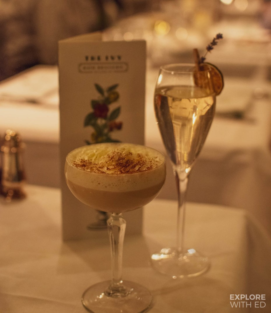 Christmas cocktails at The Ivy Bath Brasserie