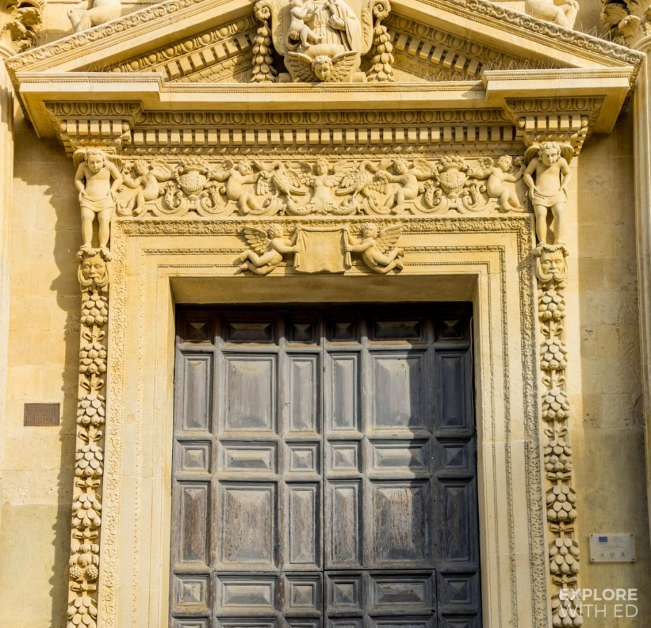 Beautiful carved stone architecture in Lecce