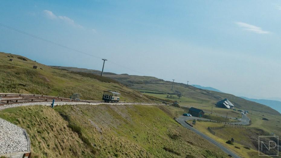 Llandudno tram descending hill