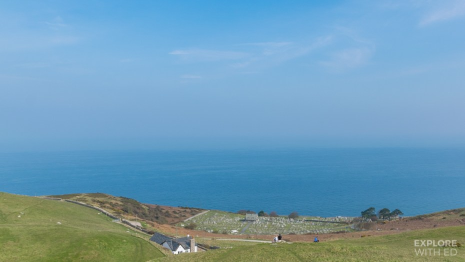 Grave yard and sea view from the Great Orme