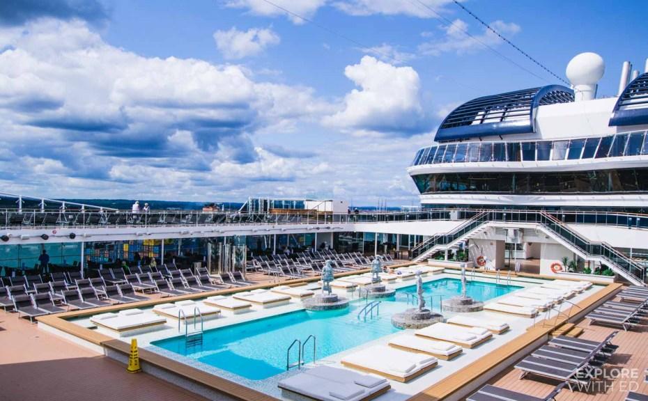 Main pool area on a MSC Cruise