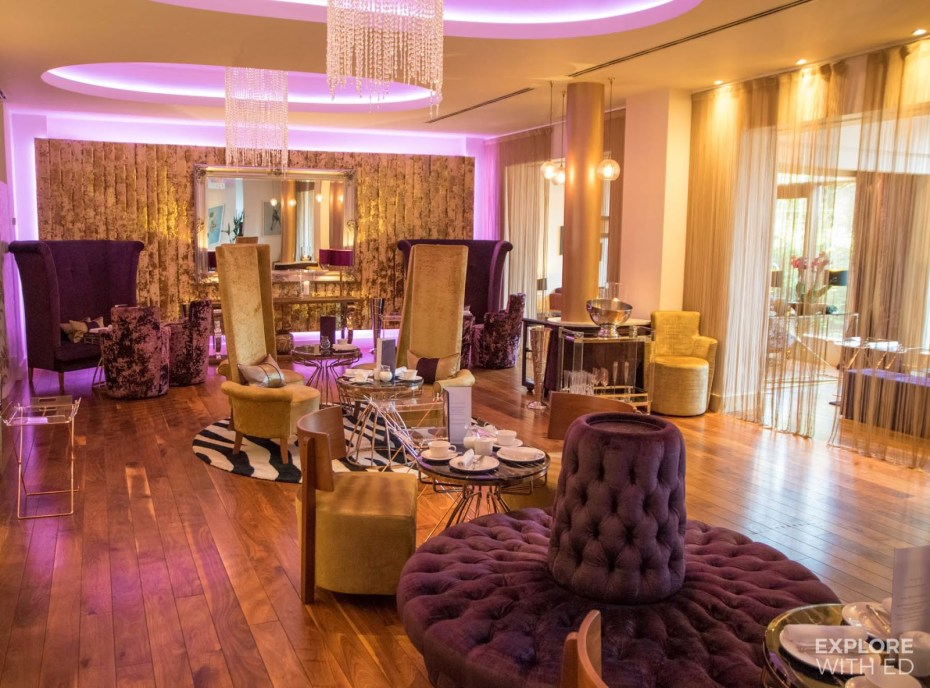 Plush interior of the Mulberry Bar at The Celtic Manor