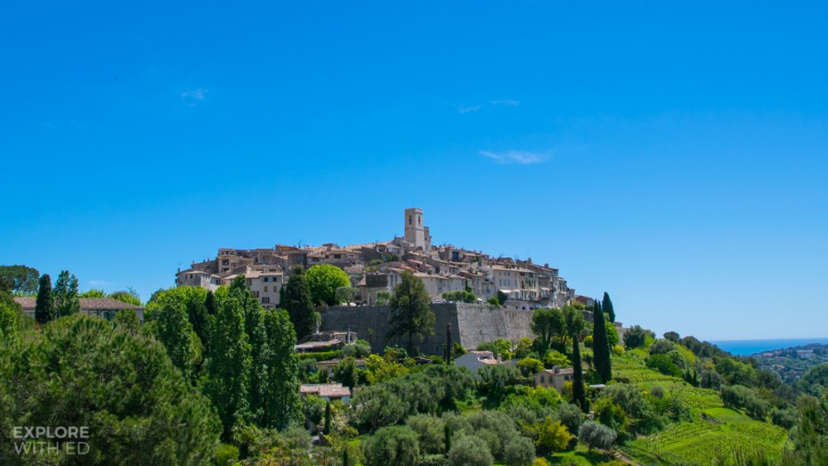 The Medieval Hillside Village of Saint Paul de Vence in the Alpes Maritimes region of Southern France