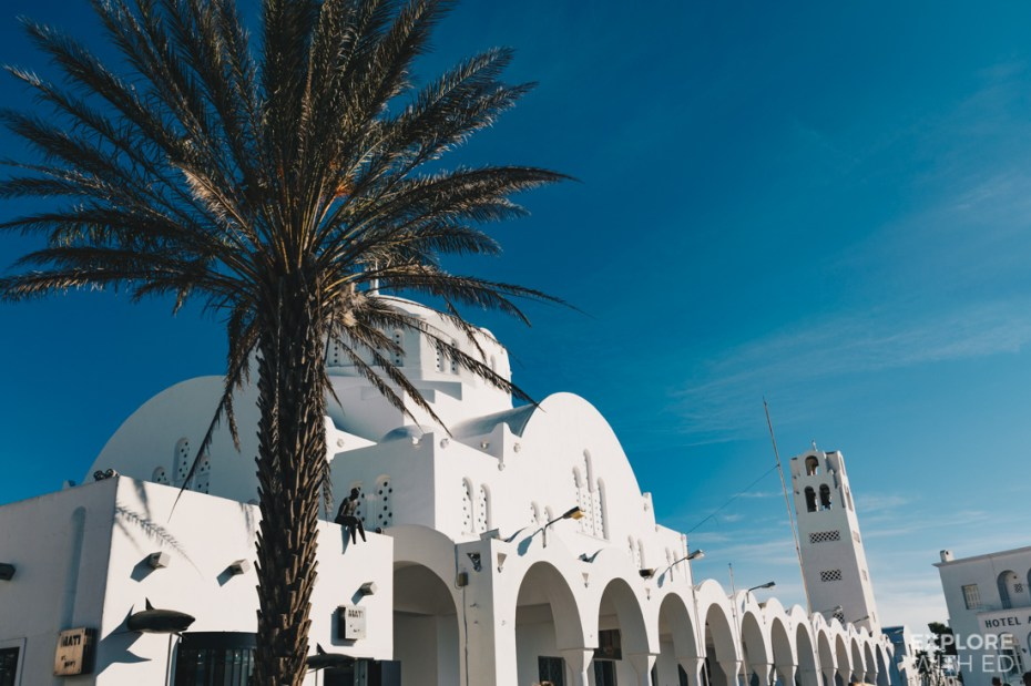 The orthodox metropolitan cathedral of Fira