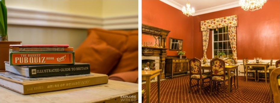 Cosy places in The Swan at Hay-on-Wye