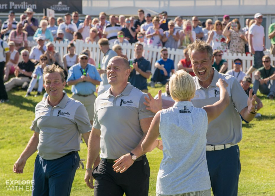 Team England celebrating win at The Celebrity Cup 2017