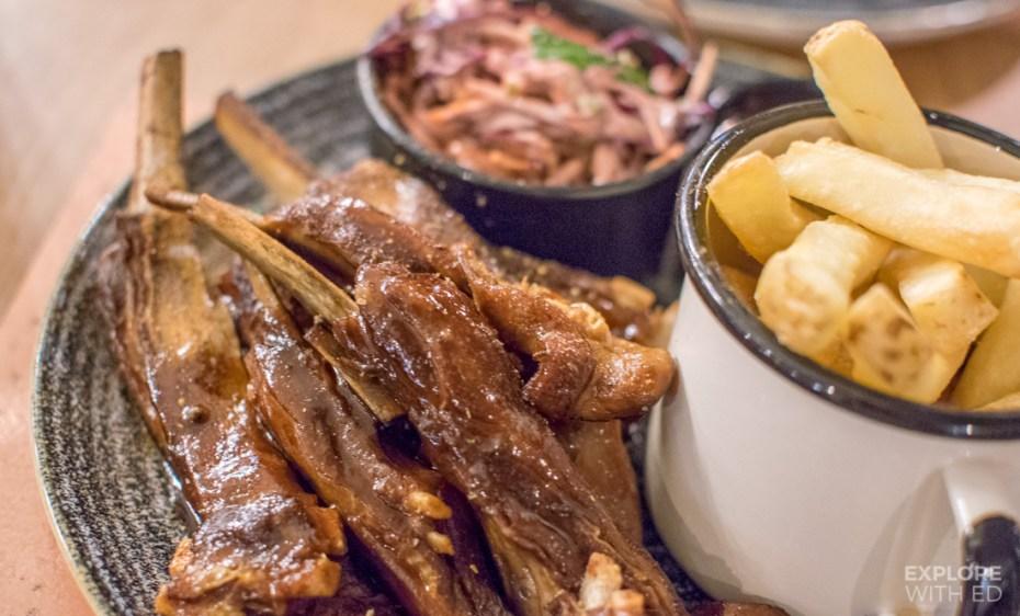 Lamb ribs with garlic, ginger and chilli marinade