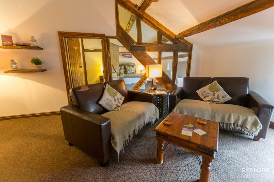 Family suite hotel room near The Elan Valley
