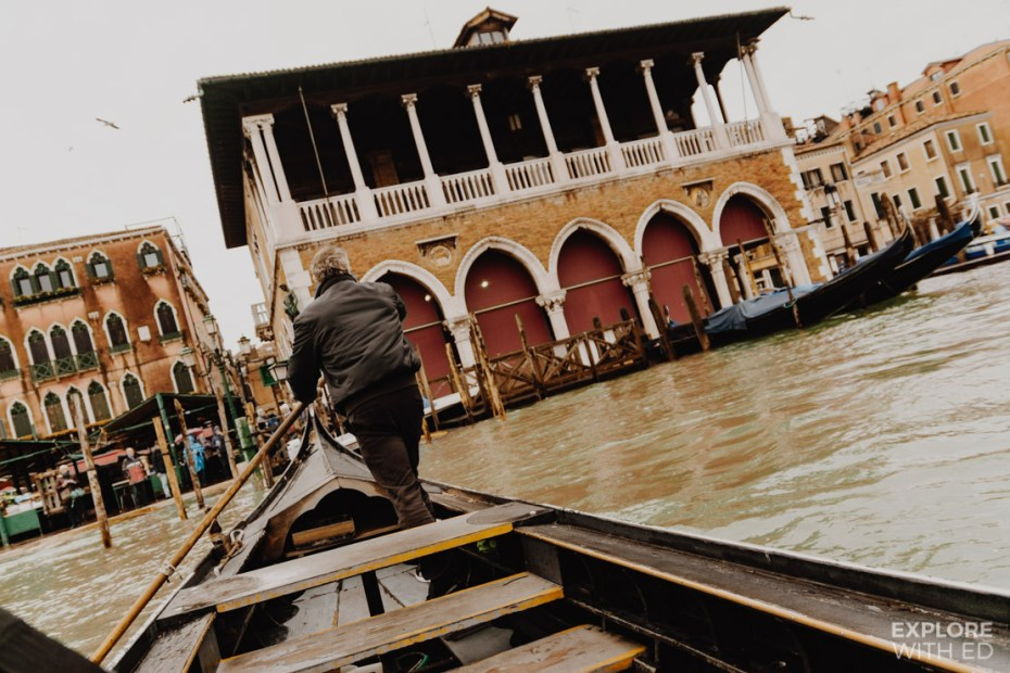Short and cheap gondola ride across the grand canal in Venice