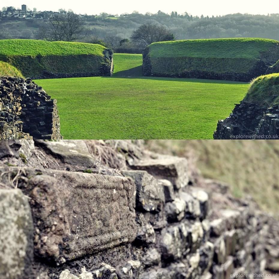 Caerleon Amphitheatre remains