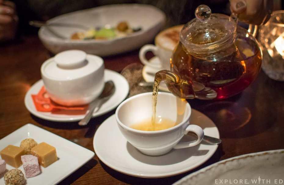 Freshly brewed welsh tea