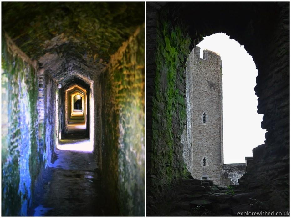 Narrow Walkway in Caerphilly Castle